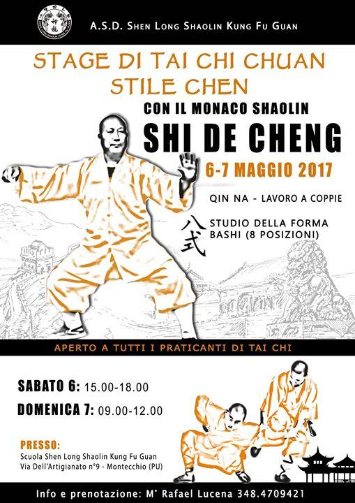 Stage Taichi con Shifu Shi de Cheng: Forma 8 Posizioni e Qin Na