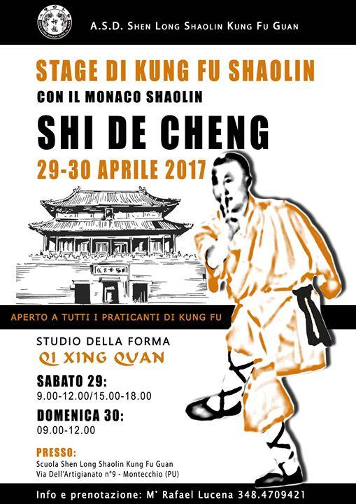 Stage Shaolin con shifu Shi de Cheng: Qī Xīng Quán