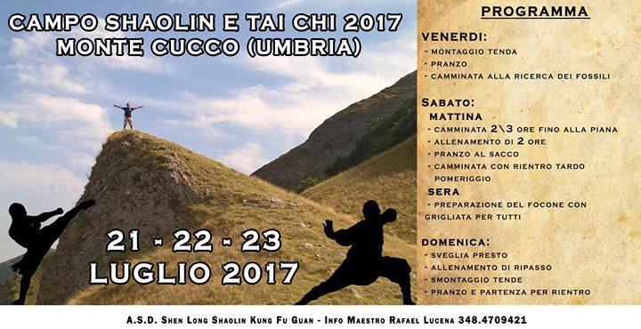 Campo Shaolin E Tai Chi 2017 – Monte Cucco (UMBRIA)